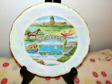 "Vintage Kentucky State Souvenir Decorative Plate  Iridescent China  5.5"""