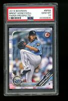 2019 Bowman Prospects #BP-88 Brent Honeywell Tampa Bay Rays PSA 10 Qty Available