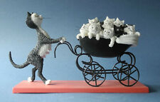 More details for dubout cats the pram cat figurine collectables gift boxed ornaments sculpture