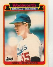 FREE SHIPPING-MINT-1989 Topps Woolworth Baseball Highlights Orel Hershiser #33