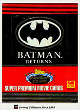 1992 Topps Stadium Club Batman Returns Movie Super Premium Card Box(36 Pks)