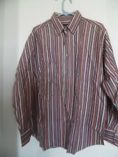 NICE Mens Bugatchi Uomo Striped dress shirt size L