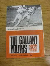 03/02/1974 programma Rugby League: Batley V Leeds [CHALLENGE Cup] (Piegati). con