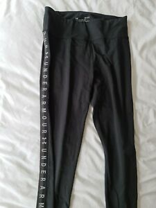 Womens Under Armous Fitted Black Leggings Size M