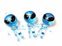 A 12pc Blue Alien Figures Boys Kids Birthday Party Favors Pinata Filler Carnival