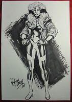 MARVEL Comics CRYSTAL Original Art Commission Sketch INHUMANS FANTASTIC FOUR