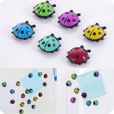 6 Pcs Cute Mini Ladybug Fridge Magic Magnet Glass Sticker DIY Home Decor CA