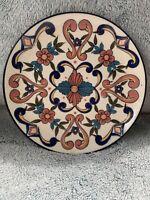 Art Pottery Folk Art Clay Wall Plate Vintage