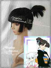 Inuyasha KAGURA BLACK Cosplay Party Wig Hair