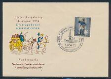 Briefmarken aus Berlin (1954-1955) mit Ersttagsbrief-Erhaltungszustand