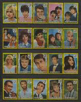 Complete Set of 40 Vlinder Movie Music Star Vintage 1960s Matchbox Label B Serie