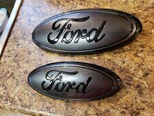 """2019-20 Ford RANGER front & rear magnetic & black emblems. 9"""" & 7"""""""