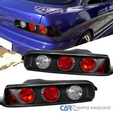 Fit Acura 94-01 Integra 2/3Dr Black Tail Lights Brake Parking Lamps Left+Right