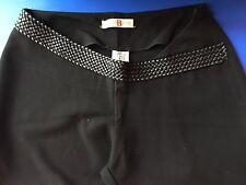 Pantalon Femme Noir Souple Taille 36 Les Petites Bombes Jambes Larges