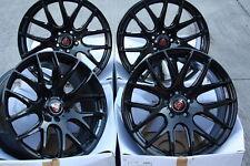"ALLOY WHEELS X 4 18"" GLOSS BLACK AXE CS LITE FOR VW T5 T6 T28 T30 T32 VAN AMAROK"