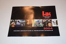 Heckler & Koch Hk Itd International Training Division 04 Course Schedule Manual!