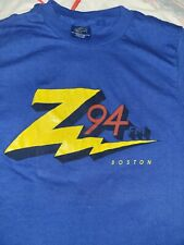 Z 94 Fm Radio Boston Station T-Shirt Blue M 38-40