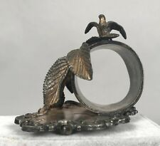 Barbour Figural Napkin Ring 20 - Bird with Berry Bush - Quadruple Silver Plate