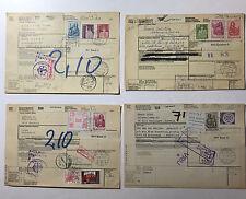Schweiz - 4 Paketkarten mit hohen Portostufen - Michel 738 bis 741 vorhanden