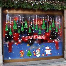 Christmas Tree Wall Sticker Mall Decoration Glass Window Removable Wall dec%f