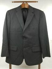 HAGGAR Black Pin Striped Suit Jacket USA Size 38S Great Condition
