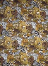 """African Animal Upholstery Fabric Panel 43.5"""" x 71"""" Hemmed from House 'n Home"""