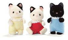 Calico Critters Baby Friends & Tuxedo Cat Triplets Set