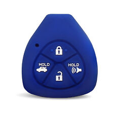 Toyota Matrix 2009-2013 Blue Rubber Silicone Key Fob Remote Cover