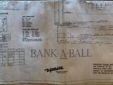 Gottlieb Bank A Ball Pinball Machine Schematic