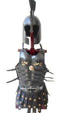 BLACK MUSCLE ARMOR JACKET MEDIEVAL ROMAN CUIRASS HALLOWEEN COSTUME