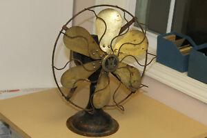 Antique Brass Six Blade Western Electric Table Fan 164864
