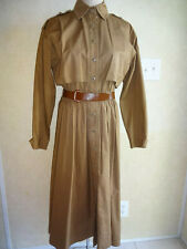 2af2e2671 Vintage Anne Klein II Dress Brown 1980s 1990s 10 S M Calderon Belt Full  Skirt