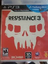 RESISTANCE 3 PLAYSTATION 3 PS3 COMPLETE IN BOX W/ MANUAL CIB VERY GOOD
