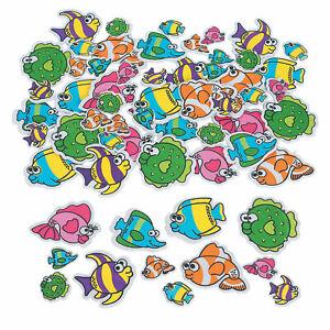 Foam shapes Pack of 50 - Cupcake, Jungle, Fish, Ranch, Unicorn, Read, Zoo, City