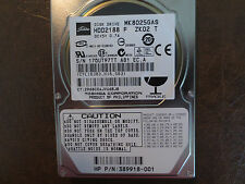 "Toshiba MK8025GAS HDD2188 F ZK02 T PN:389918-001 610 A0/KA024A 80gb IDE 2.5"" HDD"