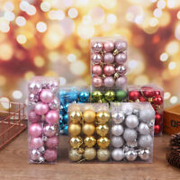 24pcs Christmas Ball Ornaments For Christmas Tree Decor For Xmas HolidayJ Fy