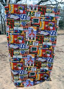 """Cotton Quilt Fabric Back To School Alexander Henry 2 yards 45"""""""