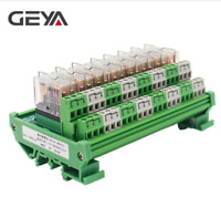 GEYA 2NG2R 8 Channel Omron Relay Module 2NO 2NC 12V 24V AC DC DPDT Relay for PLC