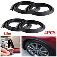 4 PCS 1.5 m Black For Car SUV Wheel Fender Extension Moulding Flares Strip Edge