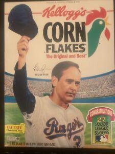 Nolan Ryan 27 Seasons Kellogg's Corn Flakes Box NIB With Cereal Expired 1994