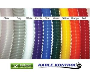 Kable Kontrol Colored Polyethylene Split Wire Loom Tubing  - Size & Color Option