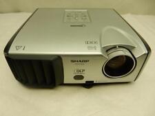 New listing Sharp Pg-F312X Dlp Projector 3000 Lumens Hd w/ Hdmi Adapter Tested - No Bulb