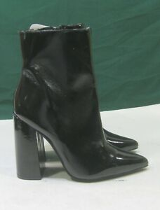 """new Black 4.5""""BLOCK High Heel POINTY TOE Sexy Ankle Boots Women Size 7.5"""