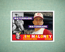 Jim Maloney Cincinnati Reds 1960 Style Custom Art Card