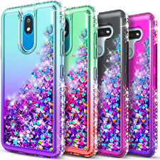 For LG Stylo 5 / 5V / 5x /5 Plus Case Liquid Glitter + Tempered Glass Protector
