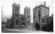 uk14066 st augustines gateway and bristol cathedral real photo uk