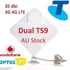 35dBi 3G 4G LTE Dual MIMO ANTENNA AERIAL Telstra Sierra 320U -TS9 plug& 2m Cable