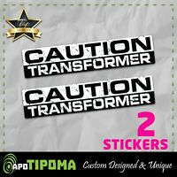 CAUTION TRANSFORMER Funny Bumper Sticker Vinyl Decal JDM Car race Truck fast 4WD