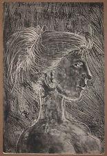 Listed Swiss Artist HANS ERNI Signed Original Lithograph ca 1955
