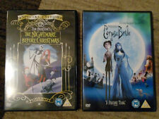 The Nightmare Before Christmas & Corpse Bride - 2x DVD - R2 - Like New